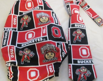 Baby Boy/ Toddler Ohio State Cake Smash Outfit  for First Birthday.  Includes:Tie and Diaper Cover.