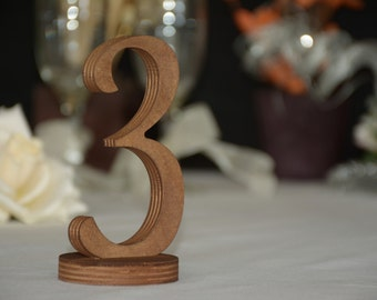 Wedding Dark Wood Finish Table Numbers, Rustic Table Numbers, Restaurant Rustic Decor Rustic Wedding Number