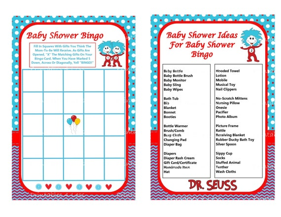 dr seuss bingo dr seuss baby game printable seuss game cat in the