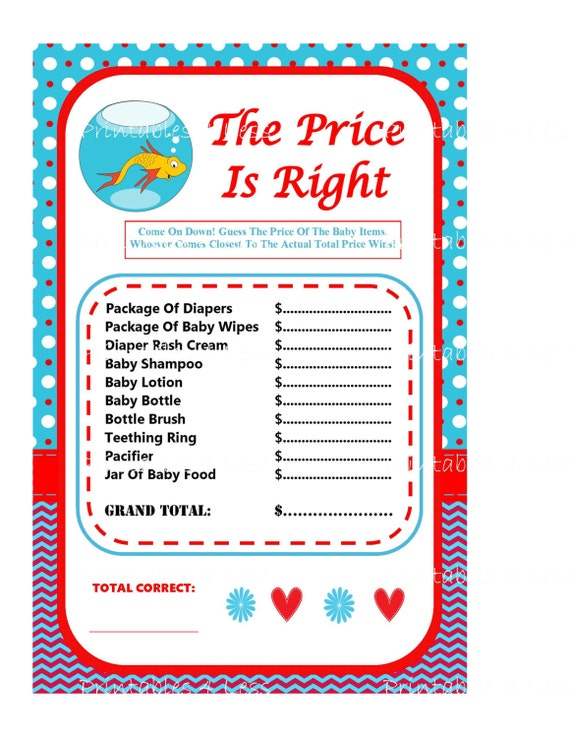 dr seuss price is right dr seuss baby game printable seuss
