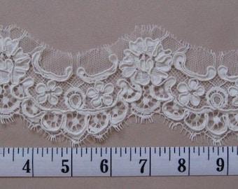 Lace Swatch, Alencon Lace, Imported French Lace, Floral Lace Bridal Veil, Mantilla, Veil, Wedding Veil, Cathedral Veil,  -  SHIRINE Veil