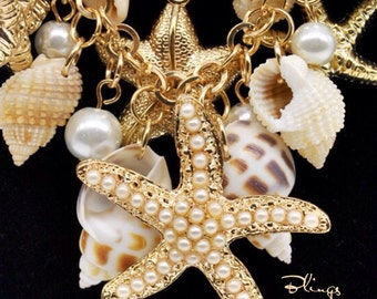 Statement Piece : Shells, Starfish and Glass Pearls