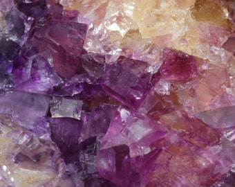 Beautiful Large Multi-Colored Cubic Fluorite Crystal Cluster on Matrix- From Rosiclare