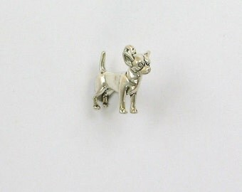 Sterling Silver 3D Chihuahua Charm - dc111