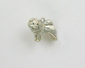 Sterling Silver 3D Chow Chow Charm