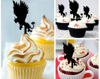 Ca255 New Arrival 10 pcs/Decorations Cupcake Topper/ mythological creatures /Wedding/Props/Party/Food & drink/Vintage/Fun/Shop/Birthday