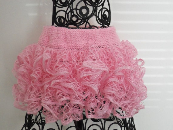 Baby or toddler ruffed skirt. Pink