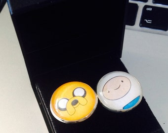 Adventure Time cufflinks Finn Jake