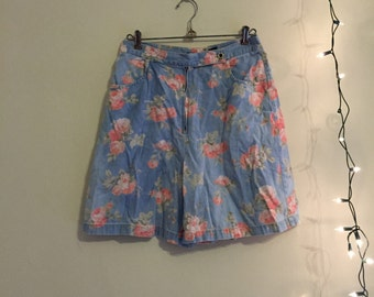 Floral High Rise Shorts