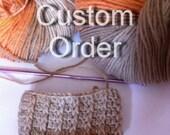 Custom Order - romantic crochet cuffs arm warmer