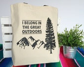 The Great Outdoors - Canvas Tote Bag