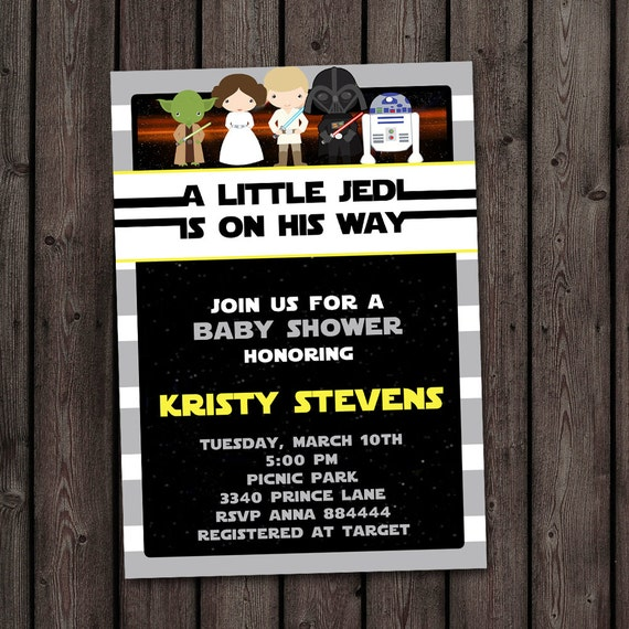 star wars baby shower invitation starwars invitation star wars theme