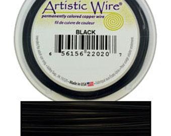 Artistic Wire Black 24ga - 20 Yard Spool  (WR30224)