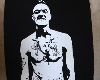 Ninja Zef Die Antwoord hand printed cotton patch I Fink You Freeky