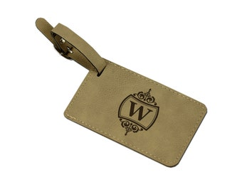 Personalized Leather Luggage Tag, Custom Leather Luggage Tag, Momogram Luggage Tag, Luggage Tag Personalized [SIM-005]