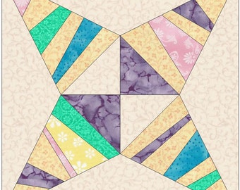 Rock Road Star Paper Piece Template Quilting Block Pattern PDF