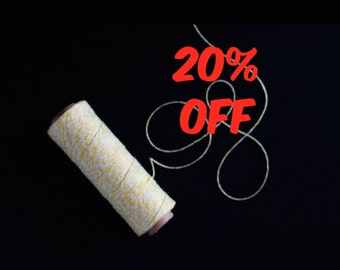 20% OFF Yellow Bakers Twine 100yards - Gift wrapping, party favors, wedding decorations.