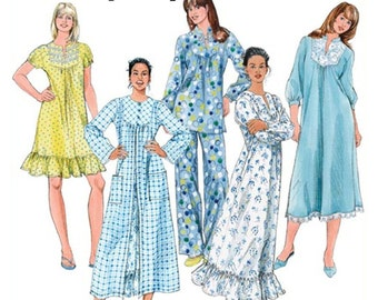 Simplicity Sewing Pattern 2819 Misses' /Miss Petite Nightgown in three lengths, Pajamas, Robe Size:  K5  8-16  Uncut