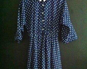 Vintage Women's Polka Dot Dress
