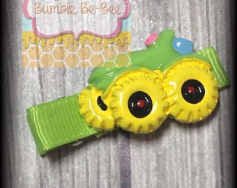 tractor hair clip tractor bow kids clips kids bows girls bows cute hair accessories