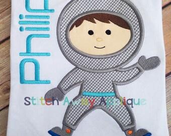 Astronaut Space Boy Machine Applique Design