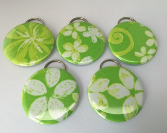 "Lilly Pulitzer ""Green Restless Native"" Fabric Bottle Openers"