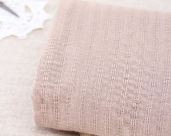 145cm / 57 inch Width, Thin Transparent Stripe Dyed Cotton Yarn Fabric, Half Yard, J204