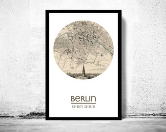BERLIN - city poster - city map poster print