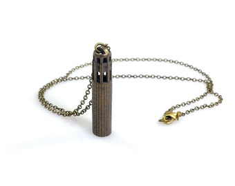 Coit Tower Necklace - 3D printed steel