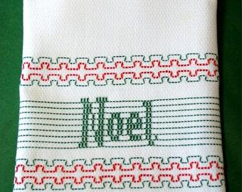 Noel Huck Embroidery Towel Kit