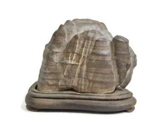 Japanese Scholars Stone. Suiseki. Japanese. Zen Rock. Garden. Zodiac.