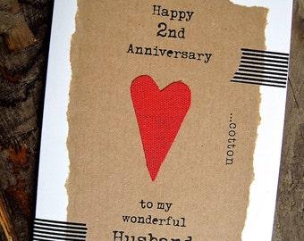 Second wedding anniversary cards for husband sao mai center