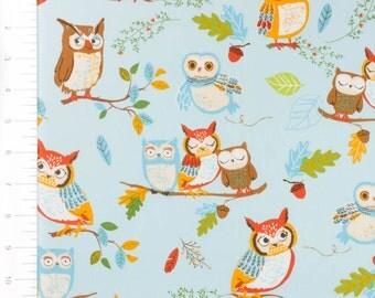 Forest Fellows Owl Blue by Robert Kaufman