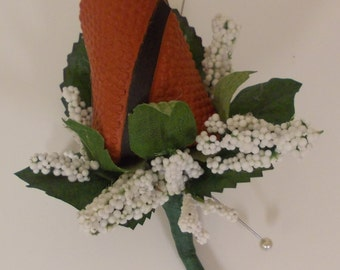 "Basketball ""Rose"" Boutonniere"