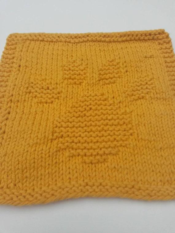 Dog Paw Knitting Pattern : Paw Dishcloth Cotton Gold Washcloth Dog Paw Dishcloth by ...