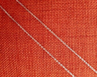 Sterling Silver Chain Necklace any length for charms,pendant,Dainty Cable 2mm 12,13 inch,16,17,18,19,20,21,22,23,24,27,28,29,30,32,delicate
