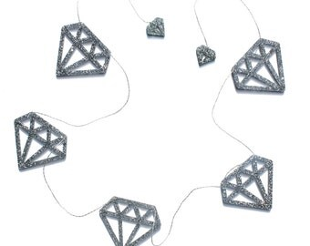 Diamond Acrylic Garland-Glitter | Nursery & Kids Decor