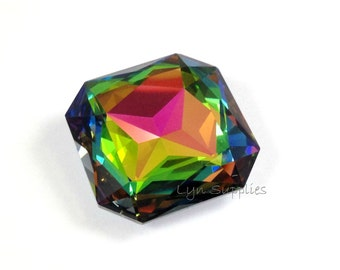 4675 VITRAIL MEDIUM 23mm Swarovski Crystal Faceted Square Octagon