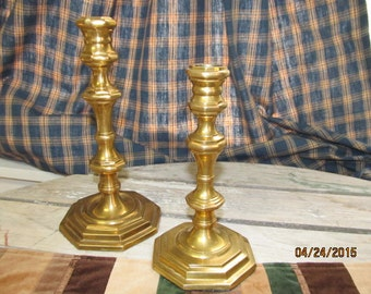 Antique Brass Candlesticks Candle Holders Taper Candles Romantic Candlelight Dinner India RIH Solid Brass