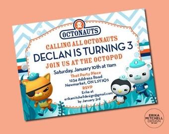 Octonaut Birthday Invite // DIGITAL FILE // CUSTOM Birthday Invitations