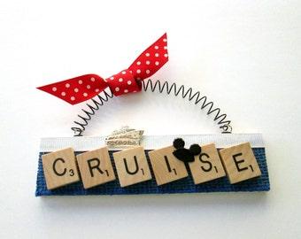 Cruise Ship Alaska Disney Scrabble Tile Ornament