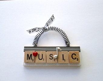 Music Scrabble Tile Ornament