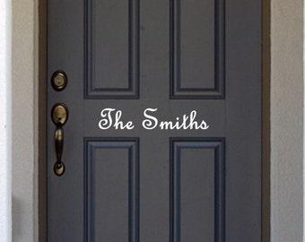 """House Door Vinyl . 5.33"""" x 12"""""""