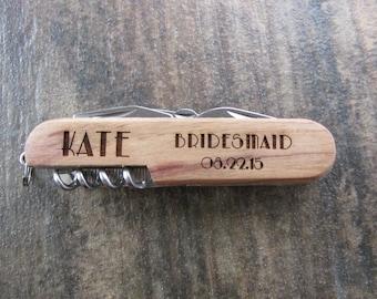 1 Multi-Tool Knife - Army Knife - Best Man Multi-Tool - Groomsmen Multi-Tool - Custom Corkscrew - Custom Pocket knife - Multi-Tool Pocket
