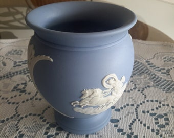Small Wedgewood Jasperware Vase, Perfect, Vintage, Home Decor, Collectible, Shelfnot