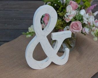 Ampersand - & - Shabby Chic Wedding Decoration - Vintage / Rustic Decor - Photo Prop - Engagement