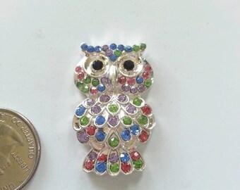 Rainbow Owl Needle Minder