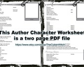 Character Worksheet for Authors