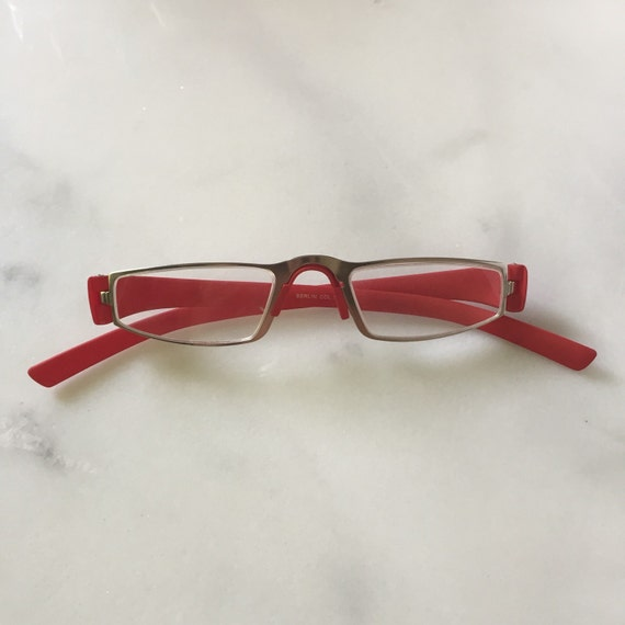 Designer Inspired Porsche Reading Glasses, Matte Red Readers, Men's and Women's Eyewear