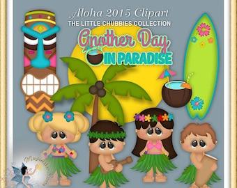 Luau Party Clipart, Hawaiian, Tiki, Aloha 2015